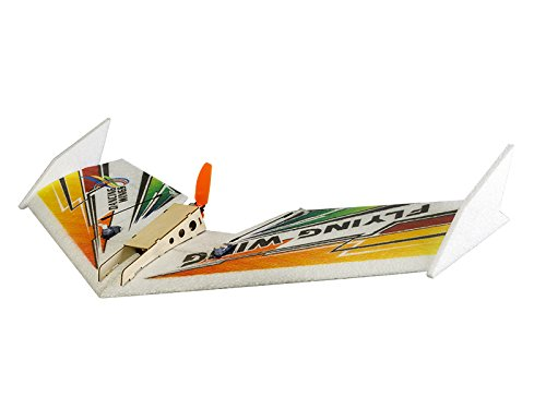 Electric Rc Pusher - DW Hobby 3CH EPP Electric Micro Flying Wing Rainbow w/600mm wingspan Delta Wing Tail-pusher Flying Aircraft w/ Motor/ESC/Servo/Transmitter/Receiver for Toy Plane (E0402)