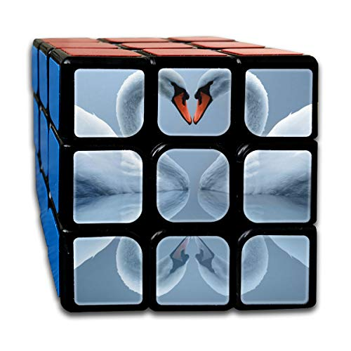 Partrest Swan Love Rubik Cube Super-Durable with Vivid Colors 5.5x5.5 Cube Easy Turning and Smooth Play Magic Cube Puzzle -