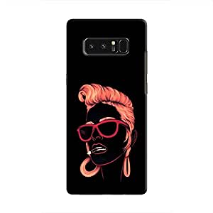 Cover it up Sketchy Girl Samsung Galaxy Note 8 Hard Case - Black