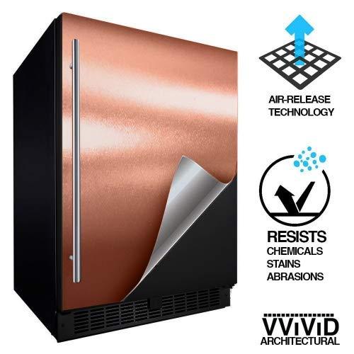 Gold Fridge - VViViD Architectural Adhesive Metallic Satin Finish Vinyl 24