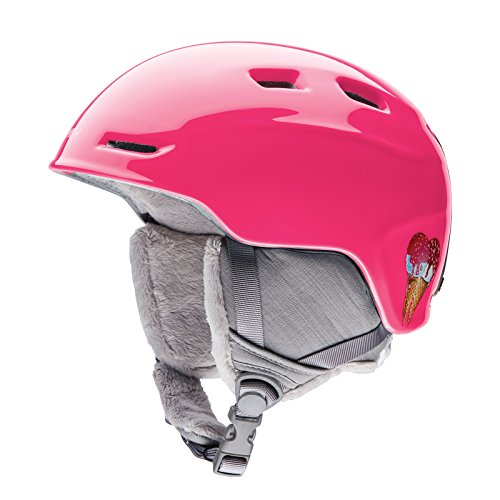 Smith Optics Zoom Youth Junior Ski Snowmobile Helmet - Pink Sugarcone / Medium