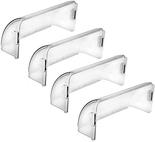 Home Intuition Adjustable Magnetic Air Deflector for Sidewall and Ceiling Registers and Vents, 4 Pack ()