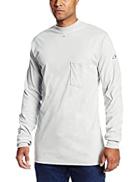 Bulwark Flame Resistant 6.25 oz Cotton Long Sleeve Tagless T-Shirt
