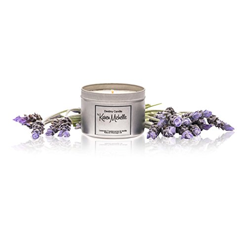 Lavender Frankincense Vanilla Scented Massage Oil Candle - Aromatherapy   Destiny Candle by Karen Michelle   Beautiful Piece of Jewelry Inside   Rekindle The Romance