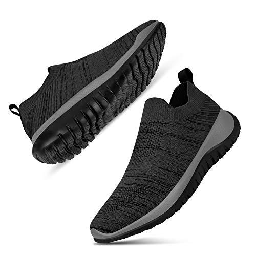 Guteidee Men Women Fashion Sneakers Athletic Mesh Lightweight Slip-on Running Shoes