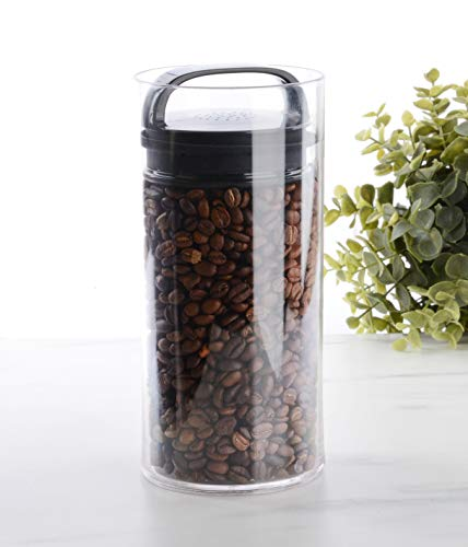 Evak Fresh Airless Storage Canister, Patented & Designed in USA, Small/Tall (33.6 Ounce, 4.2 Cup Capacity)