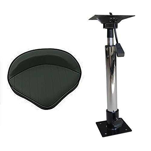 Aquos 360°Swivel Boat Seat with Adjustable Height Power Pedestal Seat Mount 20''-30'' by Aquos (Image #1)