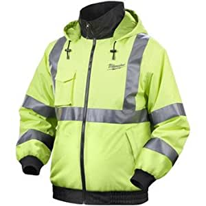 Milwaukee 2347 M12 Cordless High Visibility Heated Jacket,  REDLITHIUM Battery and Charger