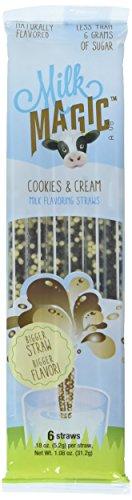 Milk Magic Milk Flavoring Straws Cookies and Cream 3 Packs (6 Straws Per Pack)