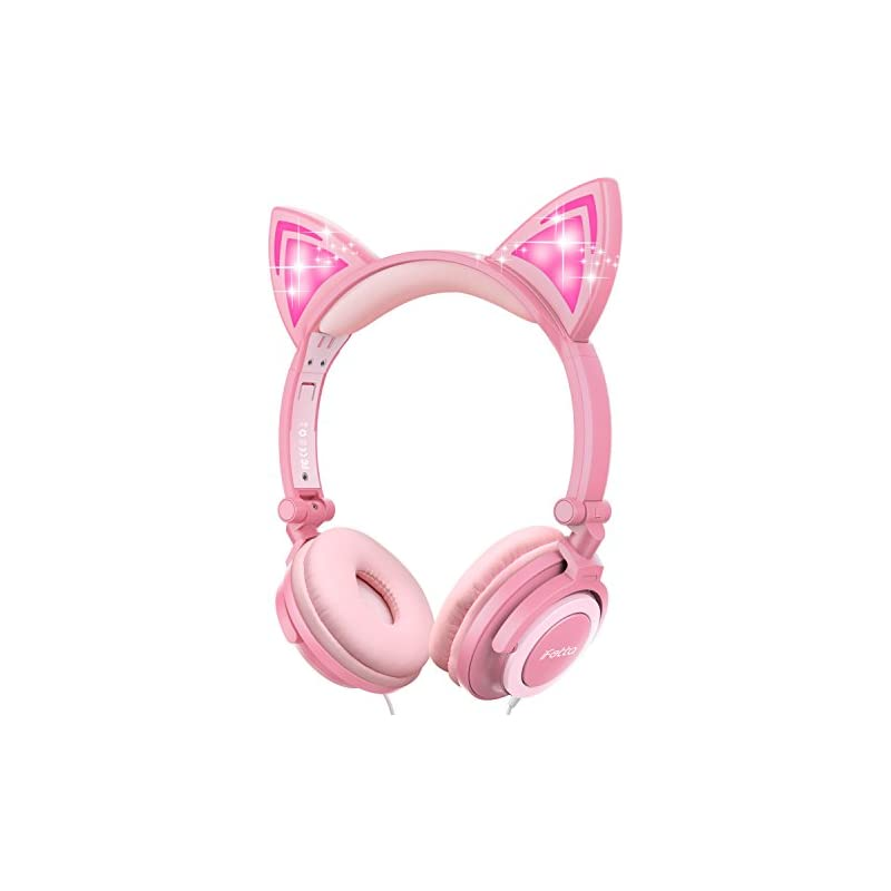 Cat Ear Headphones, Ifecco Kid Headphone