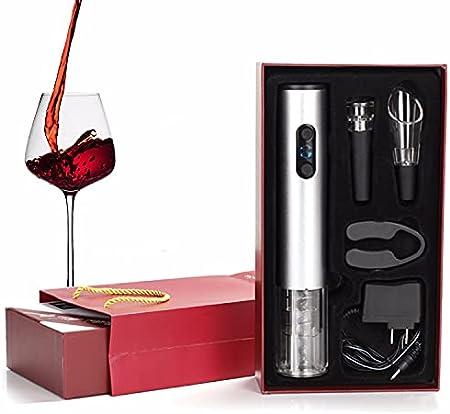 HYSK Sacacorchos de Vino Recargable, sacacorchos eléctricos, Corte de Vino automático para el hogar, sacacorchos de Vino con Cuchillo de lámina