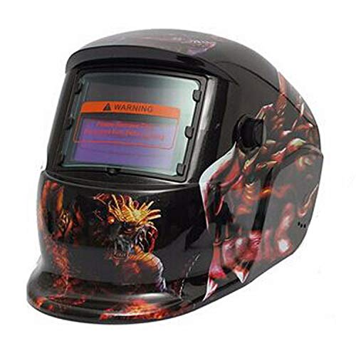 Sgkhz Welding Helmet Auto Darkening Din 16, Welding Helmet Auto Darkening 3M, Warrior Tech Welding Helmet Black,Red