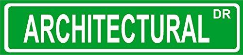 """Novelty ARCHITECTURAL street sign 4""""x18"""" aluminum wall art d"""