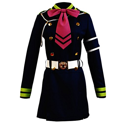 Shinoa Hiragi Costume (Allten Women's Cosplay Costume Seraph of the End Shinoa Hiragi XXXL)