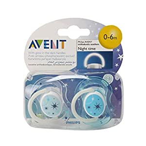 Philips Avent Pacifiers And Teethers Glow In The Dark Soothers 0-6 M - X2 Scf176/68-Boy, 9430322
