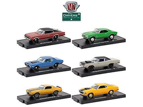 M2 11228-47 Drivers 6 Cars Set Release 47 In Blister Packs 1/64 Diecast Model Cars Machines