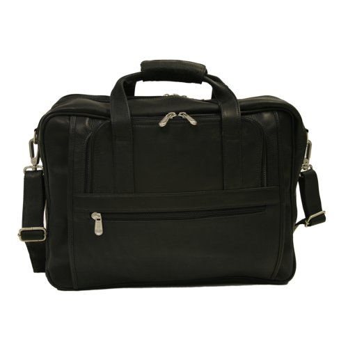 Piel Leather Large Ultra Compact Computer Bag, Black, One Size ()