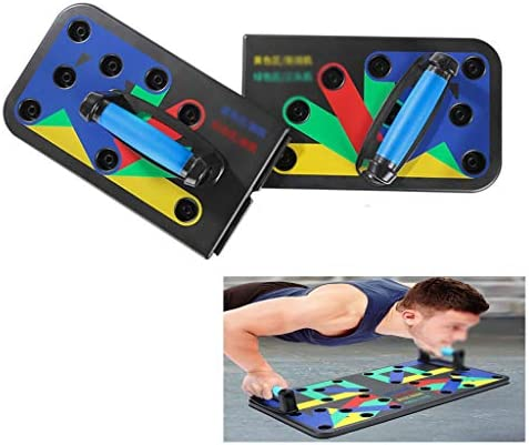 プッシュアップバー 腕立て伏せボード、体力エクササイズツール、ポータブルサポートボード腕立て伏せトレーニングシステム、家庭用フィットネストレーニング (Color : 9 types)