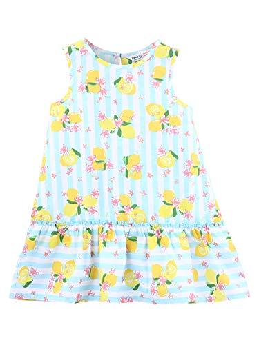 Beebay Lemon Striper Print Dress (Turq, 12-18M)]()