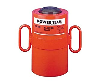 Power Team (SPX) RH303 - Center Hole Cylinder/Ram - Double-Acting/Hydraulic Return, 30 tons Capacity, 3.000 in Stroke, 7.063 in Retracted, 10.063 in Extended