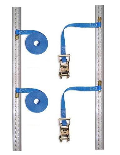 Braun Support bouteilles de gaz assurant la sécurité du chargement, 2 rails + 2 sangles d'arrimage