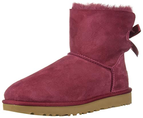 UGG Women's W Mini Bailey Bow II Fashion Boot, Garnet, 10 M US