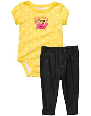 Baby Girl's Cute & Comfy Set