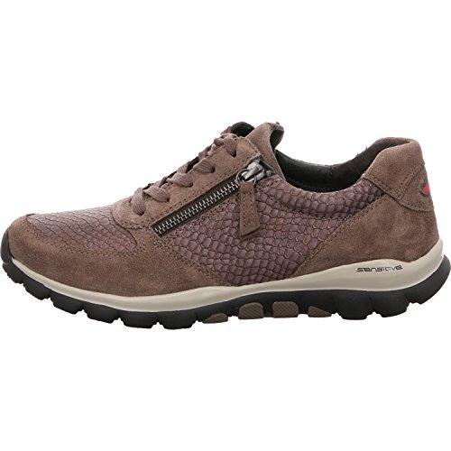 968 76 mujer Gabor gris gris para Piel 33 de 33 Zapatillas gris Tq01x50d