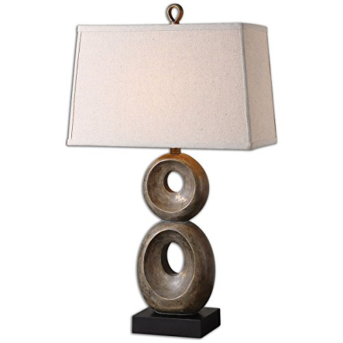 David Nickel Lamp Table (Uttermost 26562 Osseo Aged Table Lamp, Gray)