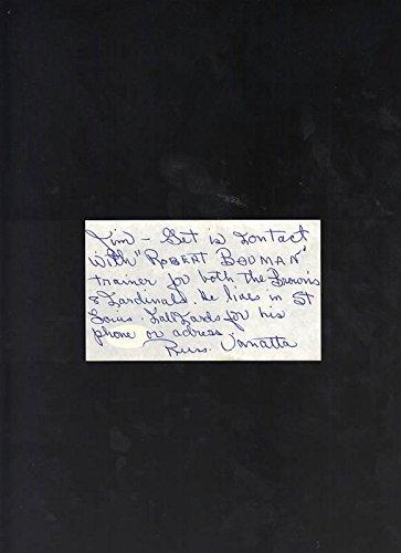 russ van atta yankees signed hand written note jsa certified mlb