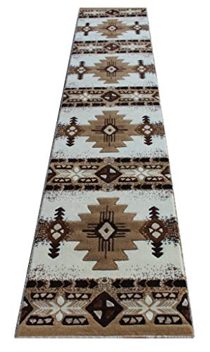 (Southwest Native American Long Runner Area Rug Ivory Concord Design C318 (2 feet 4 inches X10 feet 11 inches))