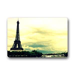 The Eiffel Tower in Paris Indoor / Outdoor Doormat Door Mat Non-Slip Rubber Doormats 18 x 30 Inch