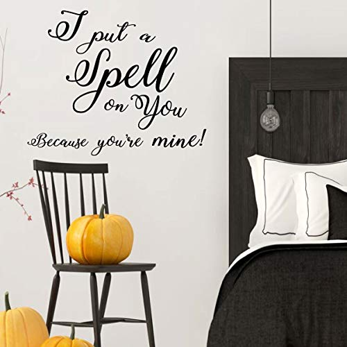 Hocus Pocus Halloween Decoration Quote for your Spouse! - 'I Put a Spell on you' - Fall Vinyl Decor for the Home or Door -