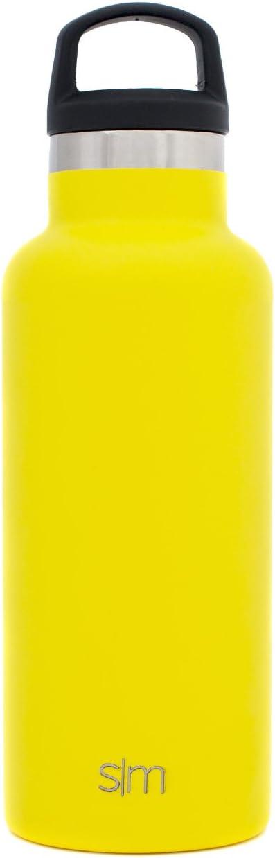 bouche /étroite boissons chaudes ou froides Cadeau femme ou homme Simple Modern 590ml Ascent Gourde Sport Inox Couvercle avec Poign/ée Bouteille deau Mug Isotherme Tasse de Voyage en Acier Inoxydable