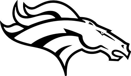NBFU DECALS Logo Denver Broncos (Black) (Set of 2) Premium Waterproof Vinyl Decal Stickers for Laptop Phone Accessory Helmet CAR Window Bumper Mug Tuber Cup Door Wall Decoration