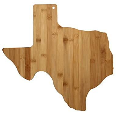 Totally Bamboo State Cutting & Serving Board, Texas, 100% Bamboo Board for Cooking and Entertaining