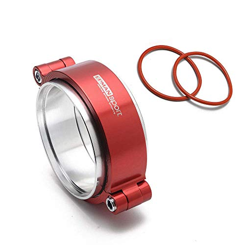 EPMAN EPKKA89 Exhaust V-band Clamp with Flange System Assembly Anodized Clamp for 3.5