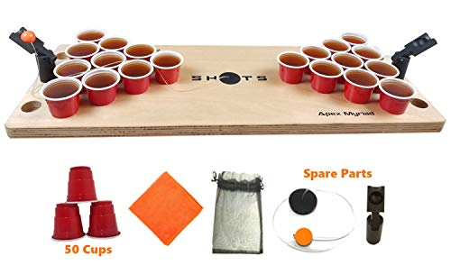 (Mini Beer Pong Game or Juice Pong SHOTS DRINKING GAMES  with SPARE BONUS pieces Classic Adults Party Sports Tailgating)