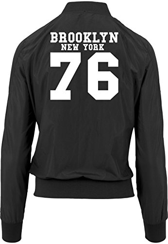 Freak New 76 Certified Bomber Nero Girls Giacca Brooklyn York 4gHqzdwxz8