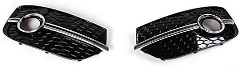 フォグライトグリル RSQ3スタイルシルバーオートカーフロントフォグランプグリルフィット用アウディQ3 2013〜2015年の自動車部品 フォグライトフレーム