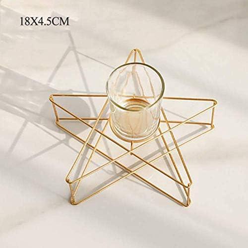 クリスマスキャンドルホルダーミニマリストキャンドルホルダーウェディングデコレーションロマンチックな五ta星キャンドルスティッククリスマスデコレーションホーム50X134、Style2