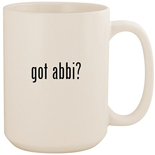 Used, got abbi? - White 15oz Ceramic Coffee Mug Cup for sale  Delivered anywhere in USA