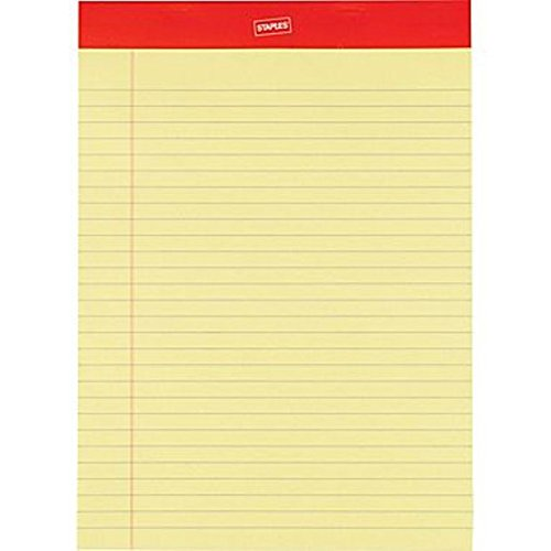 - Staples? Perforated Notepad, Wide Ruled, Canary, 8-1/2
