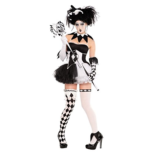 Tricksterina Harlequin 11 pc Adult Costume, Size: X Large 14-16