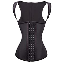 Latex waist trainer for women is a spiral steel boned style, and you can wrap the band around your midsection.Take it to the gym or for a run outside and let it add impact to your healthy lifestyle routine.Corsets for women is good choice for...