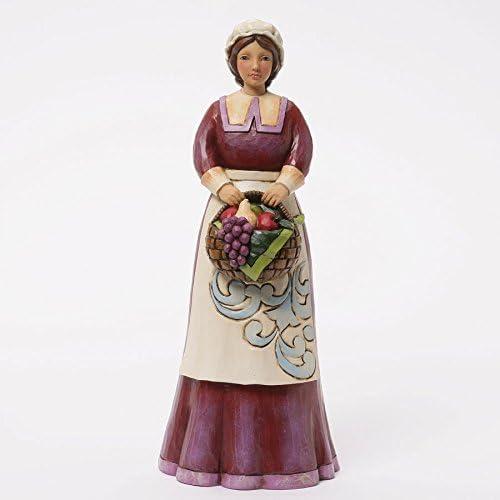Jim Shore for Enesco Heartwood Creek Pilgrim Woman Figurine, 9.5-Inch