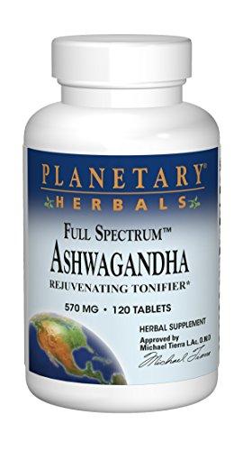 Planetary Herbals Full Spectrum Ashwagandha 570mg Rejuvenating Tonifier – 120 Tablets