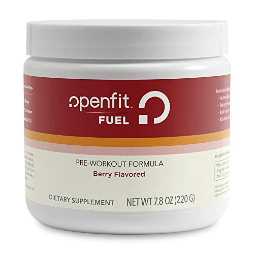 Openfit Fuel Berry Flavored Pre-Workout Formula w/Beta Alanine, Branched-Chain Amino Acids (BCAAs), No Artificial Flavors, 40 Servings