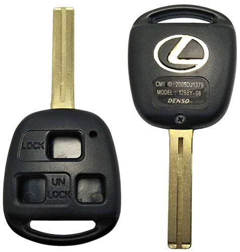 HYQ12BBT / HYQ1512V For Lexus -Remote Key, Keyless Replacement Case 3 Button Short Blade Shell Pre-Cut by key code - Make sure you providing us with your KEY CODE