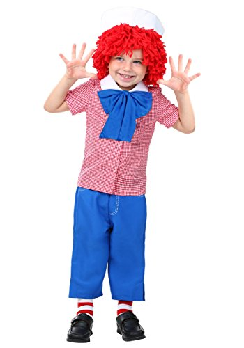 Toddler Raggedy Andy Costume 2T -